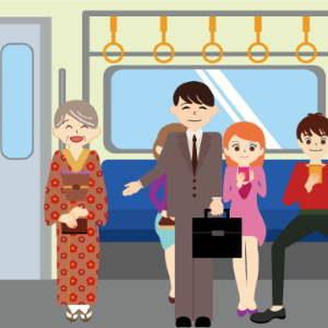電車席を譲る